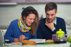 Free Couple Doing Documentation For Home Budgeting At Home In Th Royalty Free Stock Image - 80087756