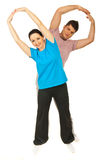 Couple doing fitness exercise Royalty Free Stock Photo