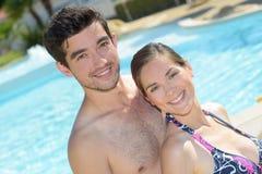 Couple doing prenuptial pictorial Stock Photos