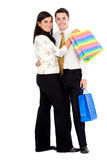 Couple doing shopping Royalty Free Stock Photo