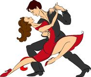 Couple doing tango Stock Images