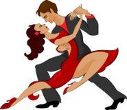 Couple doing tango Stock Photos