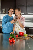 Couple doing a toast Stock Image
