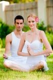 Couple Doing Yoga Royalty Free Stock Photo