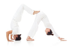 Couple Doing Yoga Stock Photography