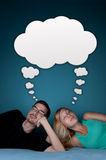 Couple dreaming Royalty Free Stock Photography