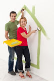 Couple dreaming up their new home Royalty Free Stock Images