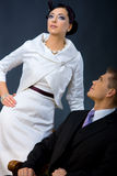 Couple dressed for evening Stock Photography