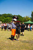 Couple dressed in pirate costumes during Strawberry festival Royalty Free Stock Photography