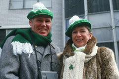 A couple dressed warmly Stock Images