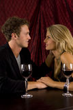 Couple drinking. Attractive couple drinking wine together Stock Photography