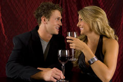 Couple drinking. Attractive young couple drinking wine Royalty Free Stock Photography