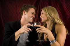 Couple drinking Royalty Free Stock Photos