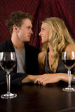 Couple drinking. Attractive couple drinking wine together Royalty Free Stock Photo