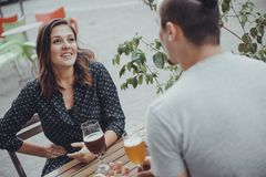 A Couple Drinking Royalty Free Stock Image