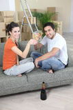 Couple drinking champagne Royalty Free Stock Photo