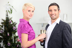 Couple drinking champagne Royalty Free Stock Photography