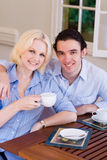 Couple drinking coffee Royalty Free Stock Photos