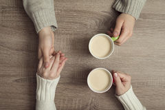 Free Couple Drinking Coffee Stock Images - 85834684