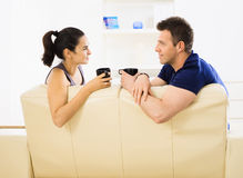 Couple drinking coffee Royalty Free Stock Images