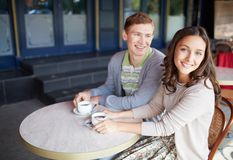 Couple drinking coffee Stock Photo