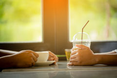 Couple drinking coffee Royalty Free Stock Photo