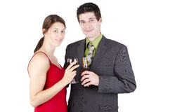 Couple drinking Royalty Free Stock Image