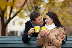 Couple drinking tea Stock Photography