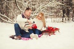 Free Couple Drinking Tea Stock Photos - 51021363