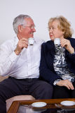 Couple drinking Royalty Free Stock Photography