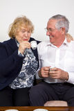 Couple drinking Royalty Free Stock Images