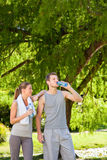 Couple drinking water Royalty Free Stock Photography