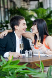 Couple Drinking Wine Stock Images