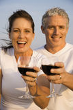 Couple Drinking Wine Royalty Free Stock Photos