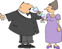 Couple drinking wine Stock Photo