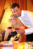 Couple drinking wine Royalty Free Stock Image