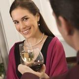Couple drinking wine. stock photo