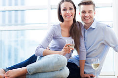 Couple drinking wine Royalty Free Stock Photo