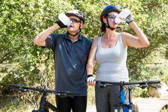 Couple drinking Stock Images