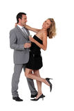 Couple with drinks Royalty Free Stock Images