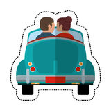 Couple driver car lovely. Illustration eps 10 Royalty Free Stock Photos