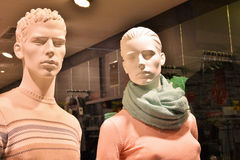 A couple of dummies close-up in a supermarket Stock Image
