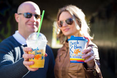 Couple With Dutch Bros Coffee Royalty Free Stock Photography