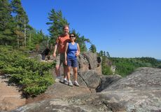Couple at Eagle's Nest in Calabogie Stock Photos