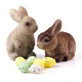 Couple of easter bunnies Royalty Free Stock Image