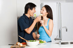 Couple Eating Royalty Free Stock Photography