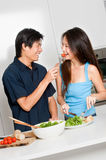 Couple Eating royalty free stock photos