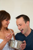 Couple eating Royalty Free Stock Photo