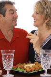 Couple eating appetizers Stock Images