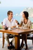Couple Eating Breakfast Stock Photos